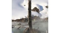 *ニセコ五色温泉の源泉(冬)