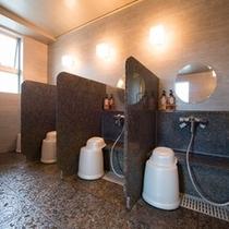 ★温泉②★天然温泉の洗い場です