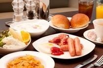 朝食盛り付け一例