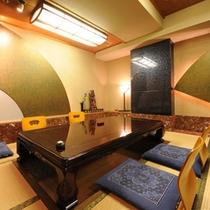 2階の芸州本店 お食事は個室のお座敷で