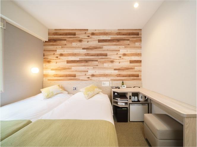 リニューアルオープン♪新しいタイプ『コンパクトツイン』シングルベッドが2つ!部屋は狭いが横並び!