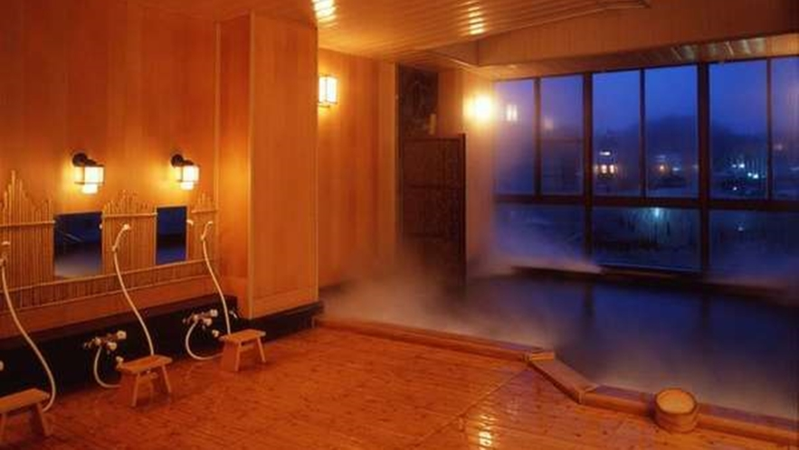 ◆純和風展望風呂(男湯) ※夜イメージ