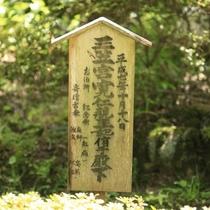 ■中庭/当館は300年以上の歴史があり、皇室の方々や各界のVIPもお泊りになられたことがございます。