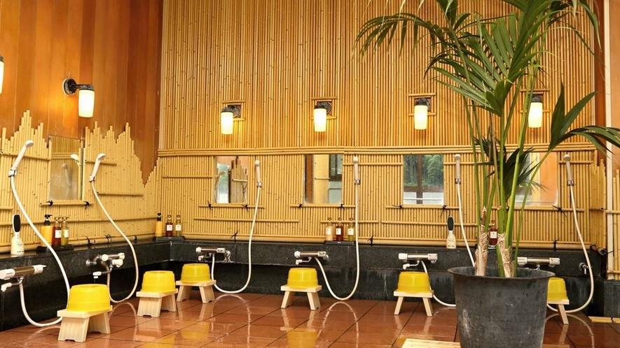 ■純和風展望風呂(男湯)/洗い場