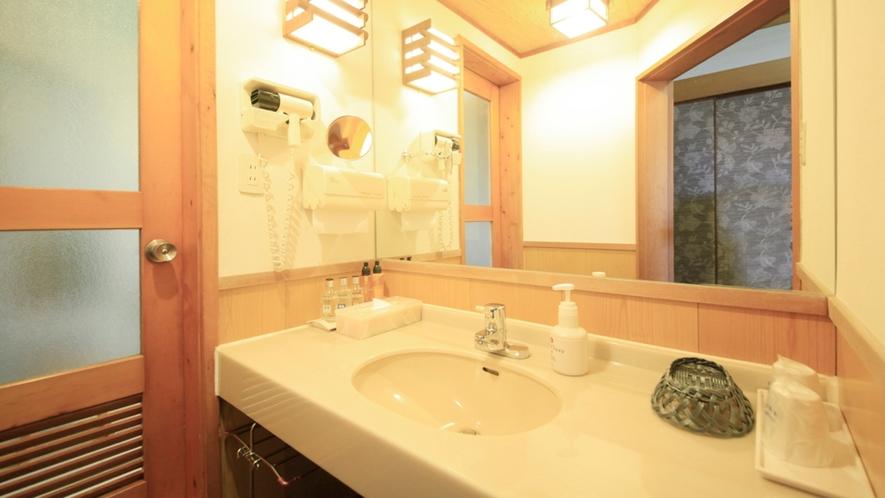 ■【温泉内風呂&書院造り】純和風客室 つつじの間 ※一例/清潔に保たれた洗面所