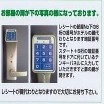 【日本語】暗証番号開錠方法