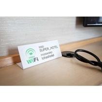 全室Wi-Fi完備です