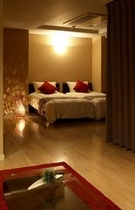 入り江を望むお部屋の寝室イメージ