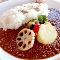 *■ランチ 野菜カレー 11:30〜14:00までレストラン営業も(定休:水曜)