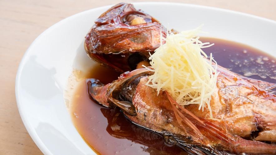 *金目鯛の姿煮も看板メニューの一つです。(2~3名サイズ)