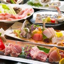 【薩摩三大肉会席<竹>一例】