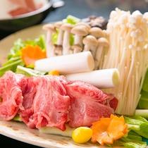【黒毛和牛すき焼き】(一例)