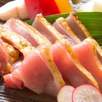 【鶏の陶板焼き】(一例)