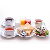 軽めのご朝食「コンチネンタル(パン・スープ・サラダ・お飲物)」