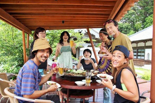 【家族同室】【ファミリー】【豪華海鮮BBQ】★ガーデンデッキでBBQプラン★やきそば・おにぎり付き