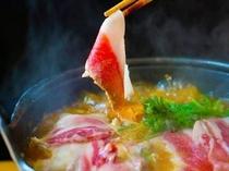 禅の湯 名物 手前味噌の猪鍋