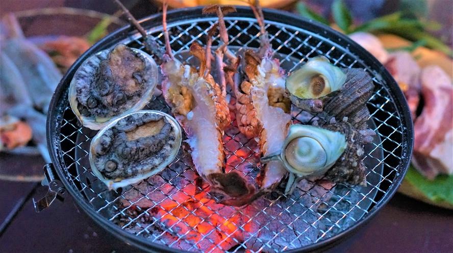 BBQプラン 伊豆の豪華海鮮盛りです