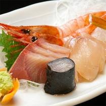 【夕食】鮮魚のお造り
