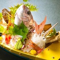 """◆金の舟盛り会席◆彩りも鮮やか、目でも舌でも楽しむ北陸の""""海の恵み"""""""