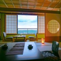 ◆最上階和室12.5畳+広緑◆‐建築美粋・数寄屋造り客室‐最上階だけの特別空間。