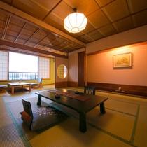 ◆和室12.5畳+広緑◆‐建築美粋・数寄屋造り客室‐落ち着いた雰囲気で団らんのひと時を