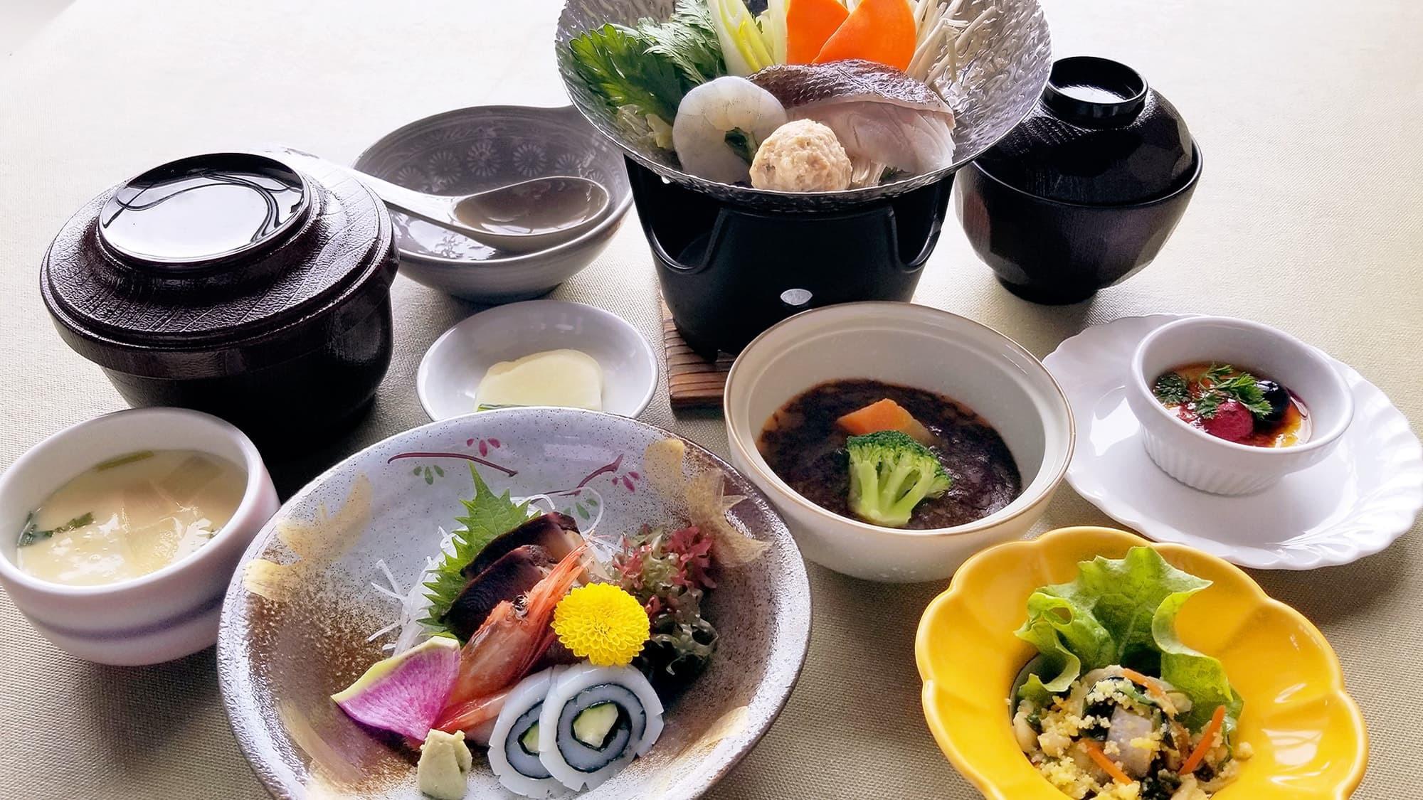 【ご夕食一例】ビジネス和定食(鍋)
