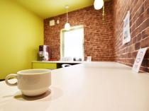 【カフェスペース】コーヒーは無料のセルフサービスとなっております。