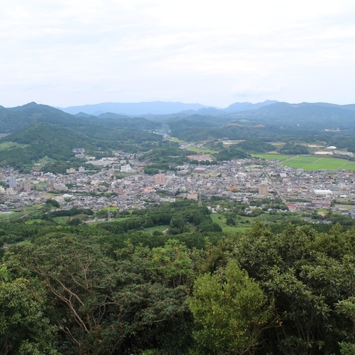 立岩展望台から見る嬉野市街