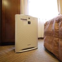 全客室に加湿機能付空気清浄機を設置しております。乾燥や臭い対策もばっちりです!
