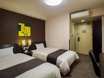■コンフォートツインルーム■ 余裕あるサイズのお部屋。ご家族での利用に最適。
