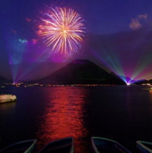 榛名湖の花火