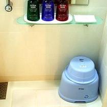 全室、洗面器とイスを完備。ご自宅のお風呂のような寛ぎです。