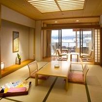 【露天風呂付和室】落ち着いた和室に専用の露天風呂が付いたお部屋