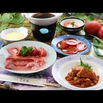 ■【南郷トマトコース】福島牛のトマトすき焼き&白川高原清流豚のトマト煮込みが味わえます