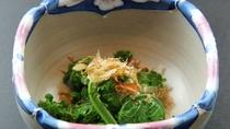 ■【ご夕食一例】旬の山菜や川魚を使用したお食事が自慢です。