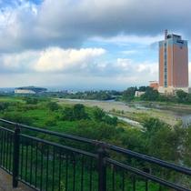 サイクリングロードからの眺望