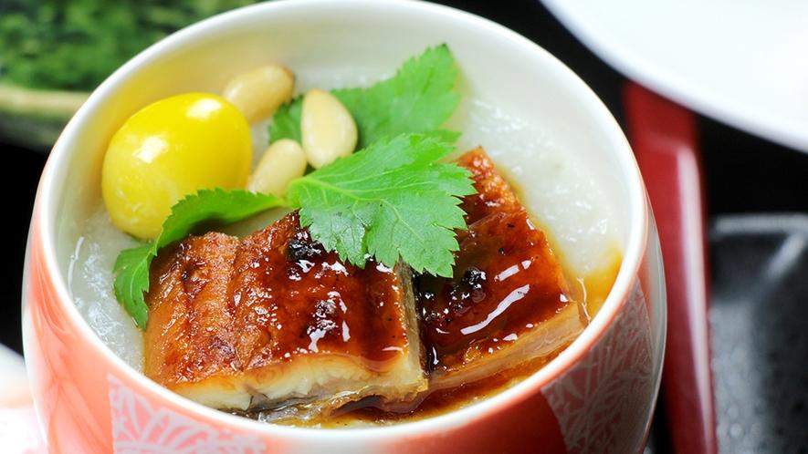*松代長芋と国産ウナギを贅沢に使った蒸し物