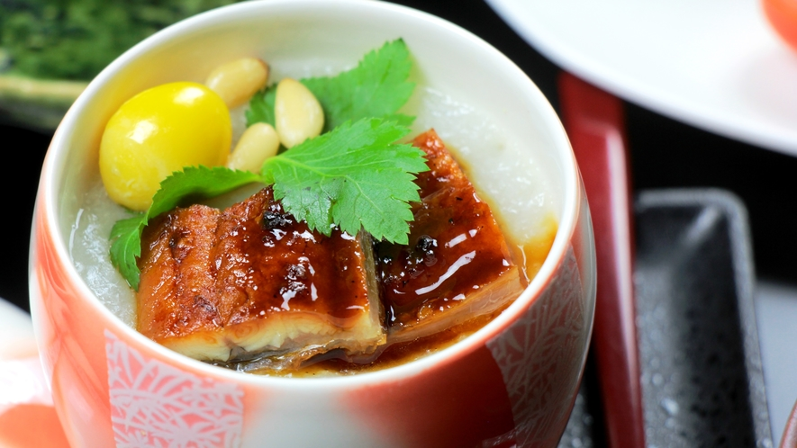 松代長芋と国産ウナギを贅沢に使った蒸し物