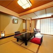 和室一例。雄大な谷川温泉の自然をお楽しみくださいませ。