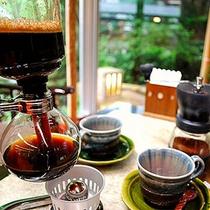 【懐かしのサイフォンコーヒー】  *昔ながらのコーヒーの味は一味違います。ぜひお試しください!