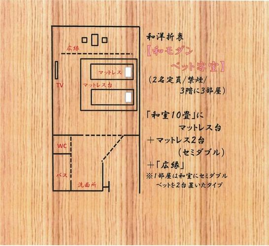 ■和室ツイン客室  小上がりベット(10畳、3階 禁煙)