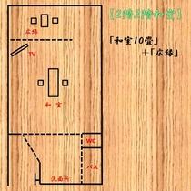2,3階和室レイアウト図一例。