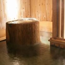 大浴場内湯湯口