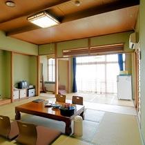 部屋:眺めが良い最上階の広々和室