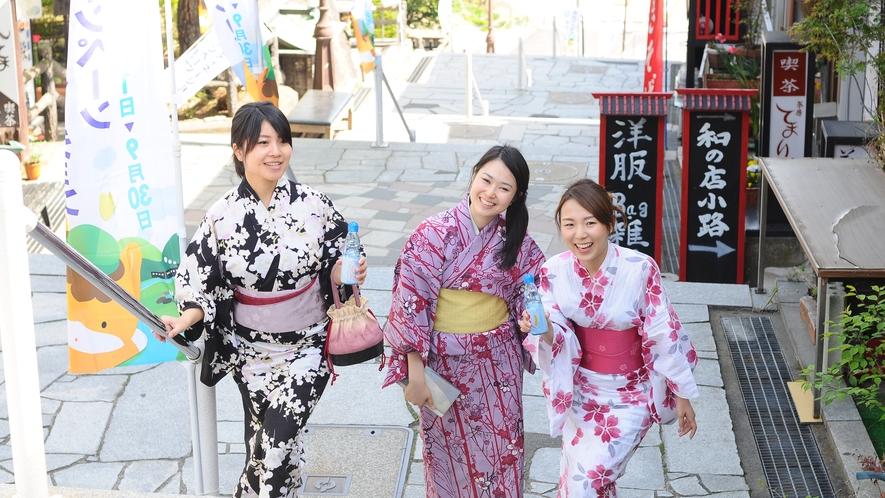 伊香保温泉の観光名所「石段街」を散策