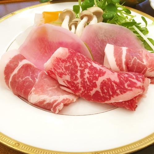 美味少量★しゃぶしゃぶは上州牛と群馬ブランド豚の相盛り♪