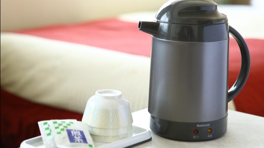 【客室アメニティ】お茶、ポットのご用意ございます