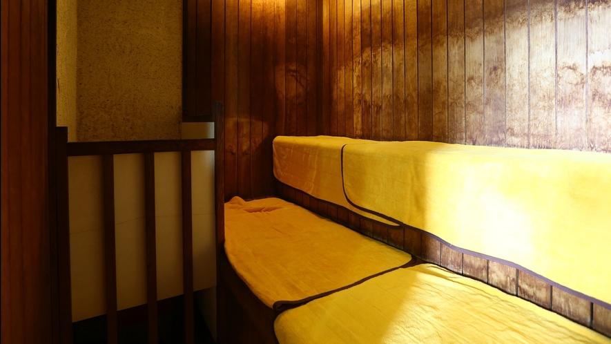 【男性大浴場】サウナで一日の疲れをすっきりと!