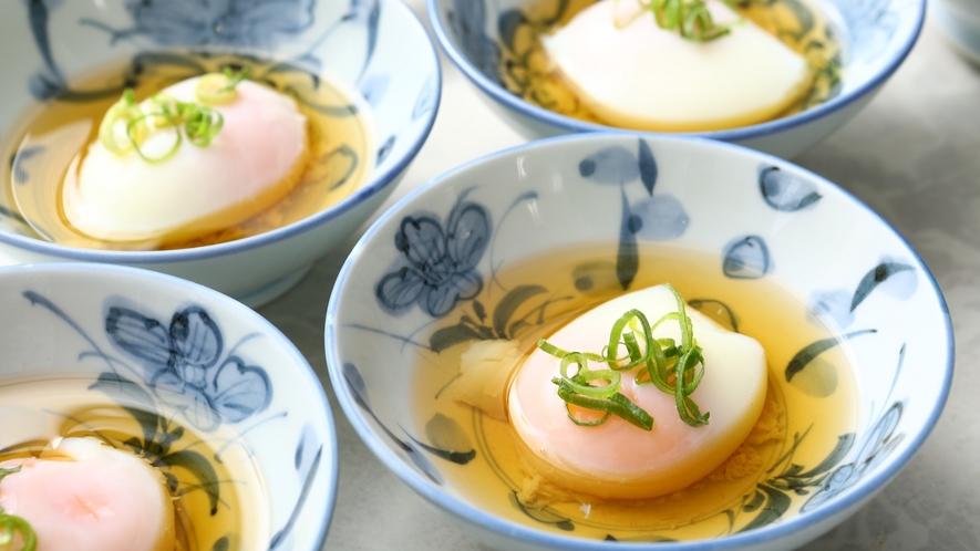 【朝食バイキング】卵料理イメージ。※写真は温泉卵になります