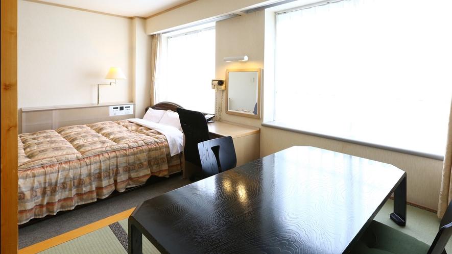 【禁煙◇和洋室】キングベッドと和室6畳で4名様までご利用可能